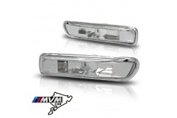 Set de intermitentes laterales para Bmw Serie 3 E46 transparente