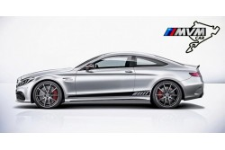 Vinilo lateral AMG Edition Black para Mercedes C 205 Coupe