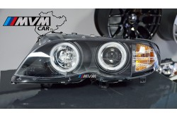 Faros Angel Eyes Bmw E46 01-05 4P